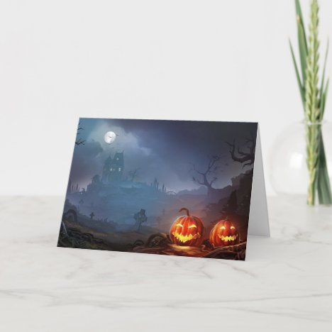 Happy Halloween | Haunted House Card