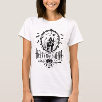 Happy Halloween Haunted House Fancy Decorative T-Shirt