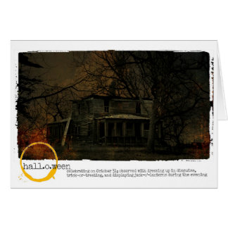 Happy Halloween haunted house Photography Card