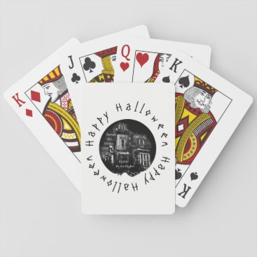 Halloween Themed Happy Halloween -Haunted House Playing Cards