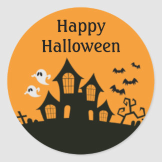 Haunted House Halloween Party Stickers | Zazzle