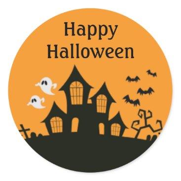 Halloween Themed Happy Halloween Haunted House Stickers