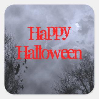 Happy Halloween Haunted Moon Sticker