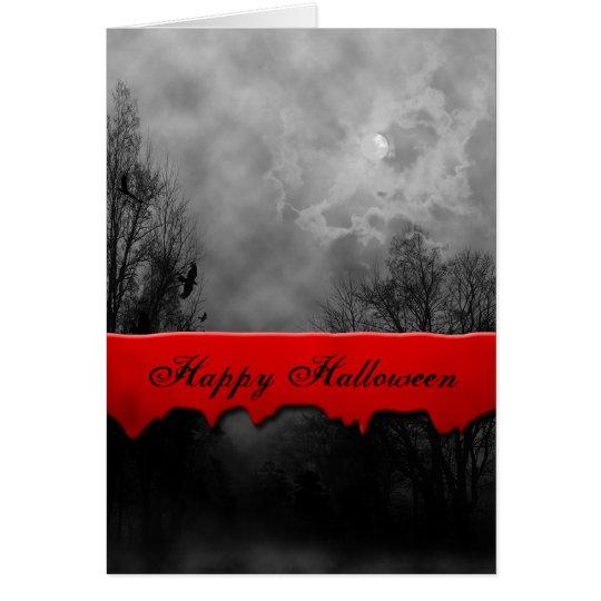 Happy Halloween Haunted Sky Custom Card