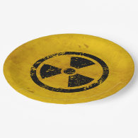 Happy Halloween Hazard Radiation Warning 9 Inch Paper Plate