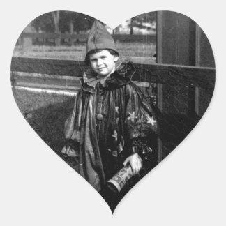 Happy Halloween Heart Sticker
