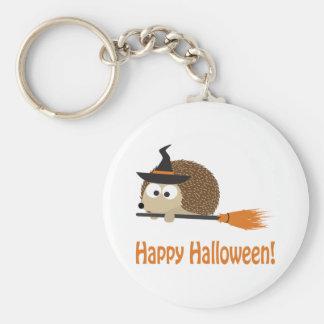 Happy Halloween! Hedgehog Witch Basic Round Button Keychain