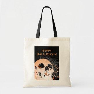happy halloween hi-fi skull 2 (trick or treat bag) tote bag