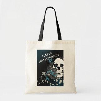 happy halloween hi-fi skull (trick or treat bag) tote bag