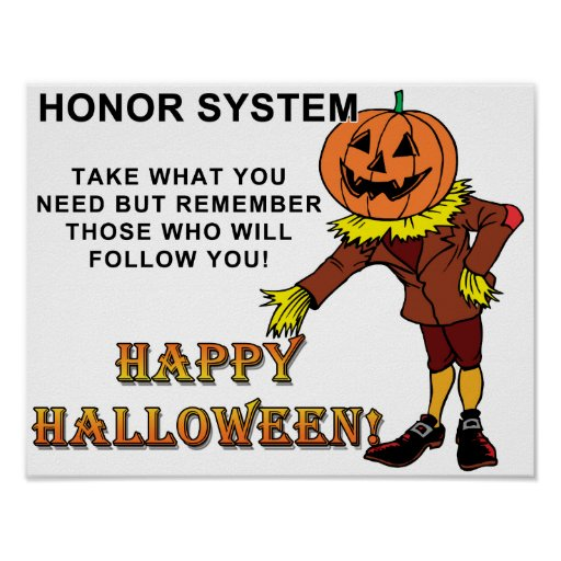 Happy Halloween Honor System Poster