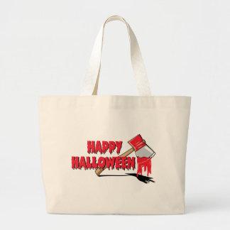 Happy Halloween Horror Large Tote Bag
