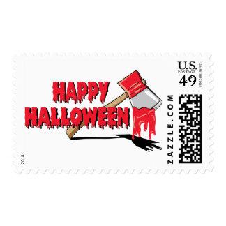 Happy Halloween Horror Postage Stamp