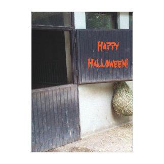 Happy Halloween Horse Stable Door Riding School Canvas Print