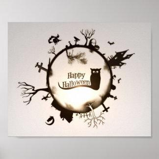 Happy Halloween Illustration Poster