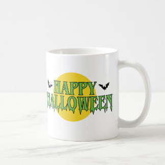 Happy Halloween in Green Coffee Mug