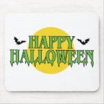 Happy Halloween in Green Mouse Pad
