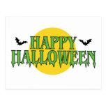 Happy Halloween in Green Postcard