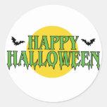 Happy Halloween in Green Sticker