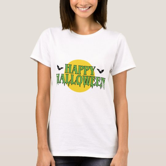 Happy Halloween in Green T-Shirt