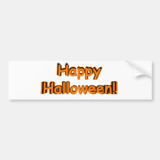 Happy Halloween in Orange and Black Bumper Sticker