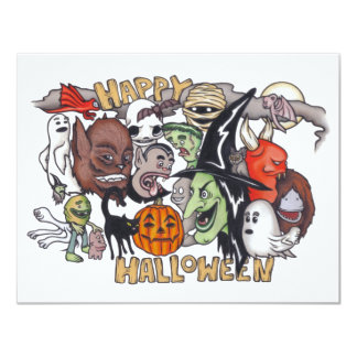 Happy Halloween! 4.25x5.5 Paper Invitation Card