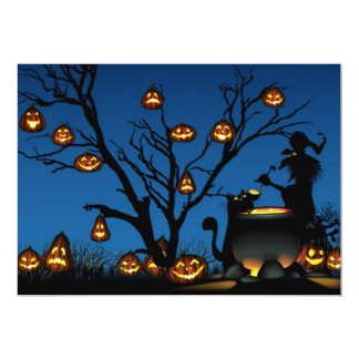 "Happy Halloween Invitation 5"" X 7"" Invitation Card"