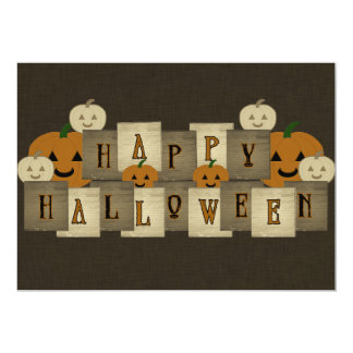Happy Halloween 5x7 Paper Invitation Card