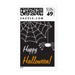 Happy Halloween invitation postage stamps