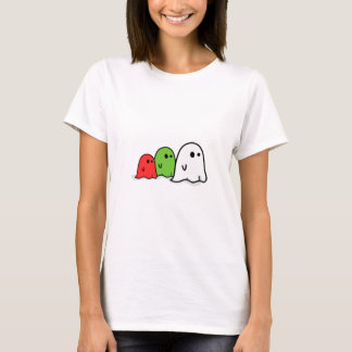 Happy Halloween Italian Ghosts Kawaii Cute T-Shirt