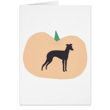 Halloween Themed Happy Halloween Italian Greyhound Card