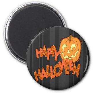 Happy Halloween Jack o lantern 2 Inch Round Magnet