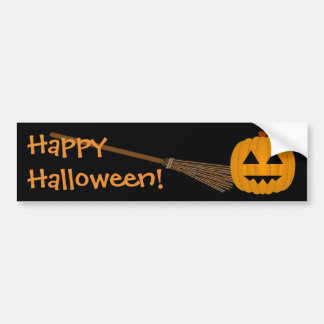 Happy Halloween Jack-O-Lantern Bumper Sticker