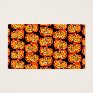 Happy Halloween Jack O' Lantern Business Card