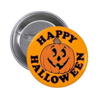 Happy Halloween Jack O Lantern Button