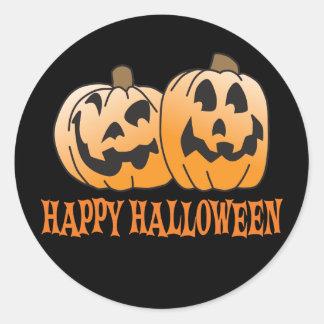 Happy Halloween Jack-O-Lantern Classic Round Sticker