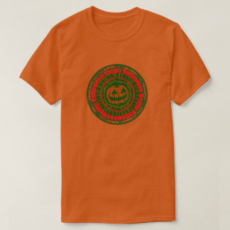 Happy Halloween- Jack O Lantern Green/Red T-Shirt