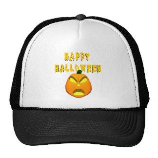 Happy Halloween Jack o lantern Mesh Hat