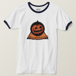 Happy Halloween -Jack O Lantern Orange Black T-Shirt