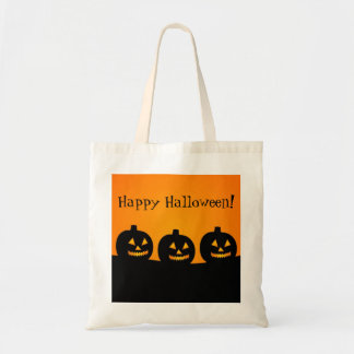 Happy Halloween Jack-O-Lantern Party Favor Gift Budget Tote Bag