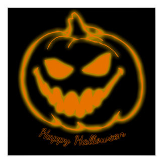 Happy Halloween Jack-o-Lantern Pumpkin Poster