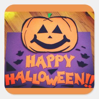 Happy Halloween Jack-O-Lantern Stickers