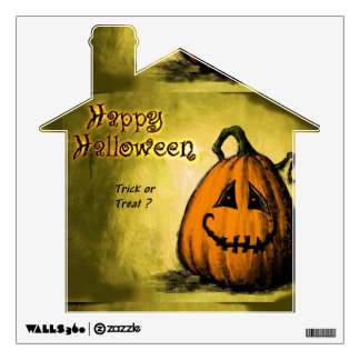 Happy Halloween-Jack-o'-lantern Wall Sticker