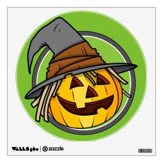 Happy Halloween Jack-O-Lantern Witch Wall Sticker