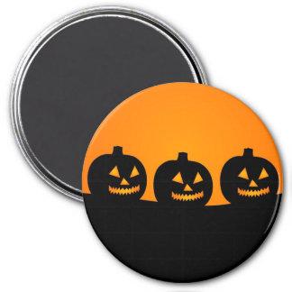 Happy Halloween Jack O Lanterns 3 Inch Round Magnet