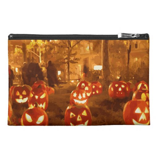 Happy Halloween Jack O Lanterns Travel Accessories Bag