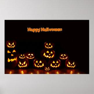 Happy Halloween-Jack-o'-lanterns Poster