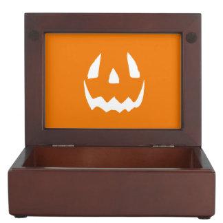 Happy Halloween Jack O'Lantern Face Keepsake Box