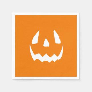 Happy Halloween Jack O'Lantern Face Standard Cocktail Napkin