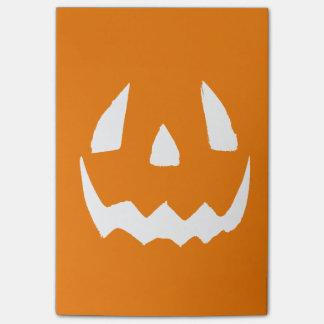 Happy Halloween Jack O'Lantern Face Post-it® Notes