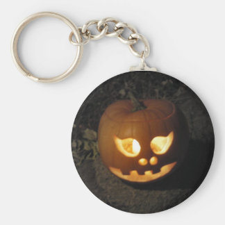Happy Halloween Jack O'Lantern Keychain